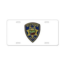 Winters Police Aluminum License Plate