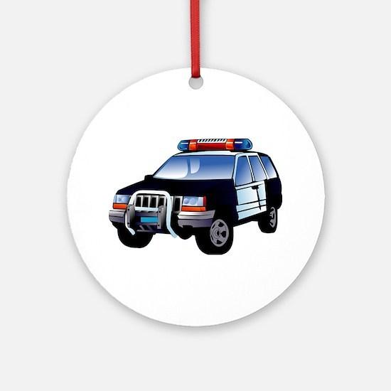 police car Ornament (Round)