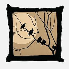 FAMILY OF BIRDS Throw Pillow