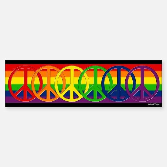 Rainbow Peace Bumper Bumper Bumper Sticker