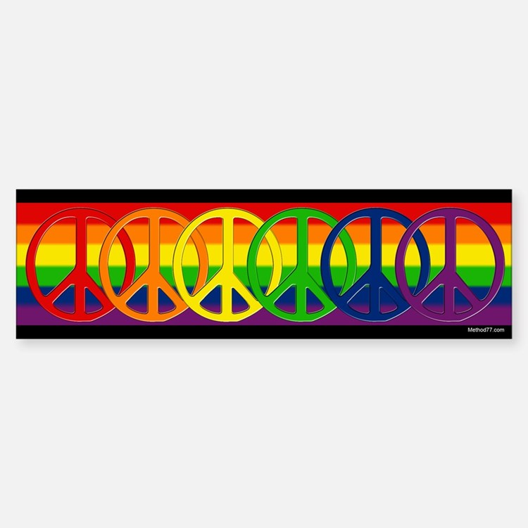 Rainbow Peace Bumper Bumper Bumper Sticker