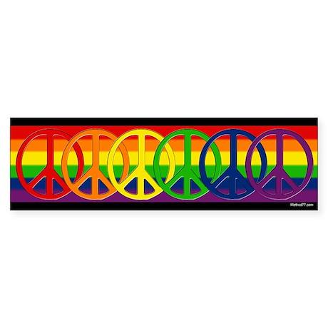 Rainbow Peace Bumper Sticker