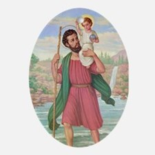 St. Christopher Ornament (Oval)
