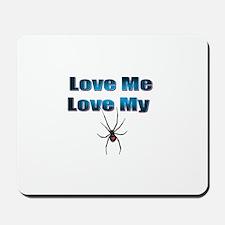 Love Me Love My Spyder Blue Mousepad