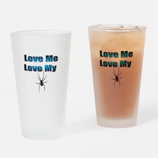 Love Me Love My Spyder Blue Drinking Glass