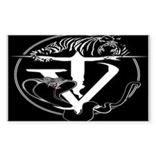 Tyger Vinum Logo (black) Rectangle Decal
