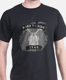 Birthday Born 1940 Born To Ride T-Shirt
