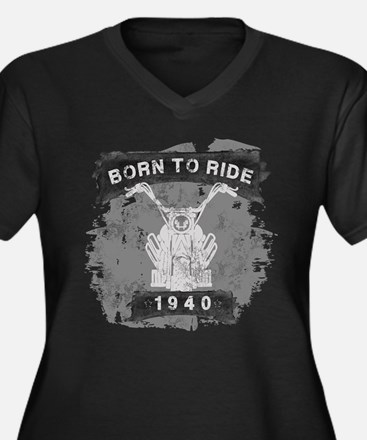Birthday Bor Women's Plus Size V-Neck Dark T-Shirt