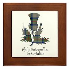 Thistle-de St Julien Framed Tile
