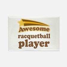 Racquetball Player Rectangle Magnet