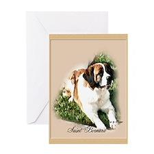 Saint Bernard Art Greeting Card