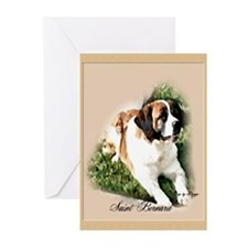 Saint Bernard Art Greeting Cards (Pk of 20)