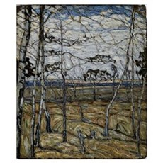 Manievich painting, Birch Trees Poster