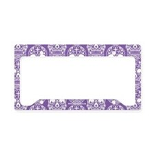 Sugar Skull Purple License Plate Holder