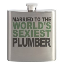 Married To The Worlds Sexiest Plumber Flask