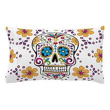 Sugar Skull WHITE Pillow Case