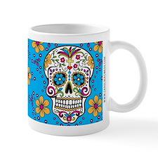 Sugar Skull TEAL Mug