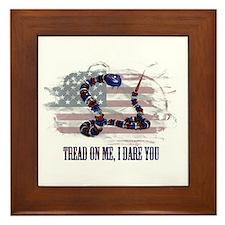 Tread On Me, I Dare You Framed Tile