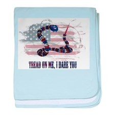 Tread On Me, I Dare You baby blanket