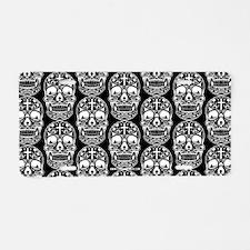 Sugar Skull Black Aluminum License Plate