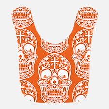 Sugar Skull Orange Bib