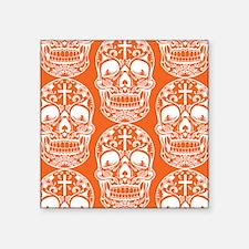Sugar Skull Orange Sticker