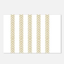 White Gold Chevron Arrows Postcards (Package of 8)