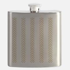 White Gold Chevron Arrows Flask