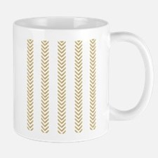 White Gold Chevron Arrows Mugs