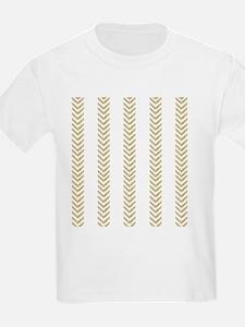 White Gold Chevron Arrows T-Shirt