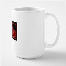 Black Neon Red Bicycle Mug