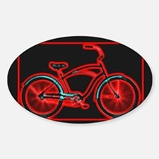 Black Neon Red Bicycle Decal