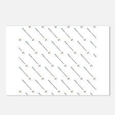 Diagonal Arrow Pattern Illustration Postcards (Pac