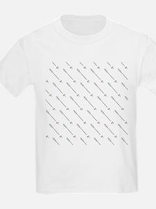 Diagonal Arrow Pattern Illustration T-Shirt