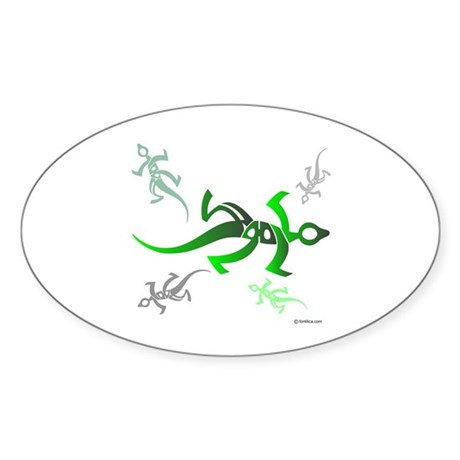 Marmoulakha Persian Lizards Oval Sticker