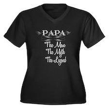 Papa The Man the myth the legend Plus Size T-Shirt