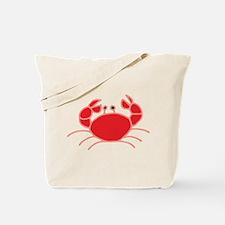 Red Crab Illustration Tote Bag