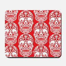 Sugar Skull Red Mousepad