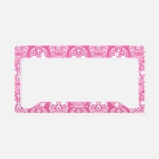 Sugar Skull Pink License Plate Holder