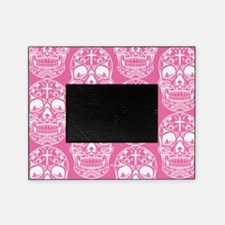 Sugar Skull Pink Picture Frame