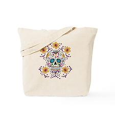 Sugar Skull WHITE Tote Bag
