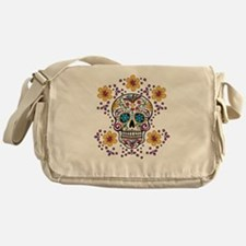 Sugar Skull WHITE Messenger Bag