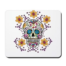 Sugar Skull WHITE Mousepad