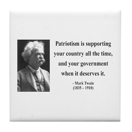Mark Twain 37 Tile Coaster