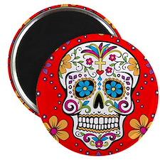 Sugar Skull RED Magnet