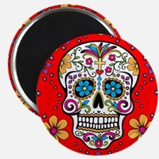 Sugar Skull RED Magnet