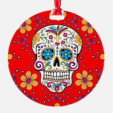 Sugar Skull RED Ornament