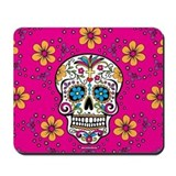 Sugar skull Mouse Pads