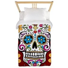 Dead Sugar Skull, Halloween Twin Duvet