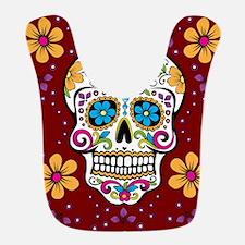 Dead Sugar Skull, Halloween Bib